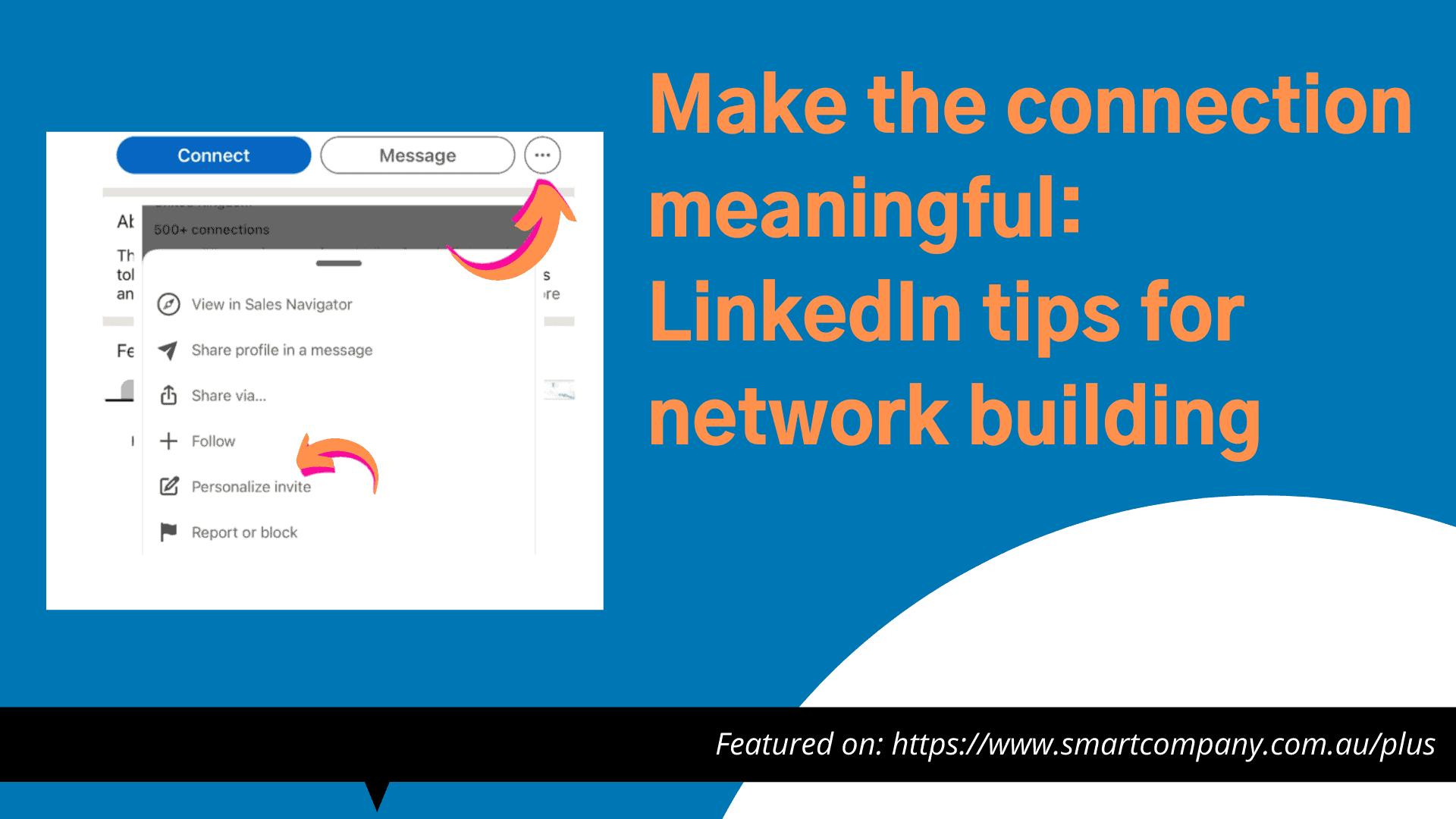 LinkedIn Tips for network building